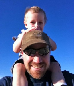Steve with nephew Samuel